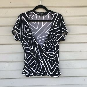 White House Black Market XL Crossover Top Shirt